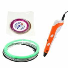 3D ручка SPIDER PEN Start, ABS и UNID Pro, оранжевая (трафарет + 6 цветов пластика) Spider Pen