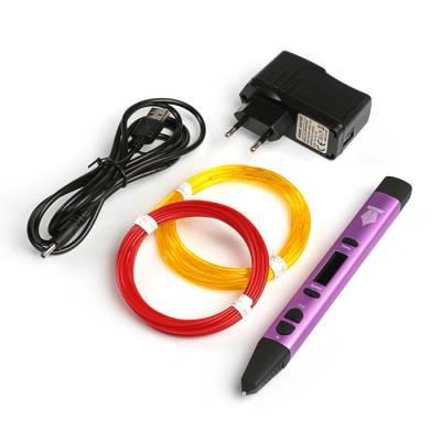 3D ручка SPIDER PEN PRO, ABS, PLA и UNID Pro, цвет: нежно сиреневый (+ 2 цвета пластика) Spider Pen