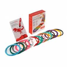 Набор LuazON пластик ABS + трафареты, для 3Д ручки, длина 10 м, 15 цветов в наборе Luazon