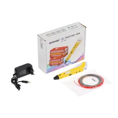 3D ручка Myriwell RP-100A, ABS, желтая (+ пластик, 3 цвета) MyRiwell