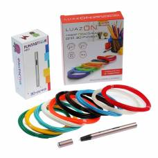Комплект 3D-ручка Fantastique NEO розовая + пластик PLA (10 цвет. по 10 м) + трафареты IQ