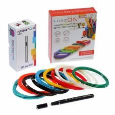 Комплект 3D-ручка Fantastique NEO черная + пластик PLA (10 цвет. по 10 м) + трафареты IQ