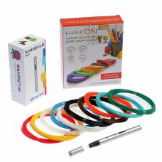 Комплект 3D-ручка Fantastique NEO серебристая + пластик PLA (10 цвет. по 10 м) + трафареты IQ