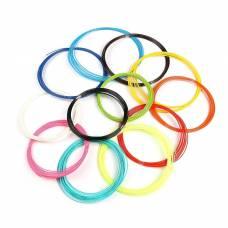 Пластик ABS-12, для 3Д ручки, по 10 м, 12 цветов в наборе Luazon