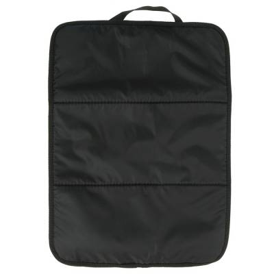 Защитная накидка-незапинайка на спинку сиденья, трёхслойная, 55х40 см, цвет чёрный Божья коровка