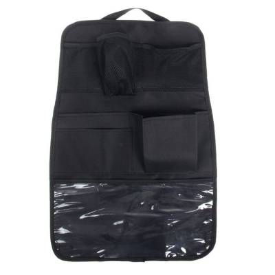 Органайзер на спинку сиденья, 7 карманов, цвет чёрный Божья коровка