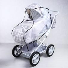 Дождевик для детской коляски универсальный из полиэтилена, на резинке Витоша