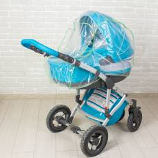 Дождевик для коляски-люльки из полиэтилена, окошко на завязках, цвета канта Витоша