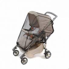 Москитная сетка на коляску универсальная, на молниях, цвет чёрный, 40х60 см ПАПИТТО