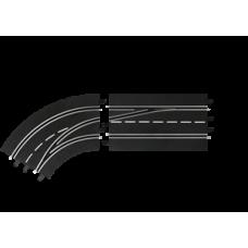 Поворот слева со сменой полосы, с внутренней на внешнюю Carrera