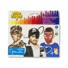 Грим АКВА для мальчиков 6 цветов 12 гр + карандаш + аксессуары Europa Uno Trade