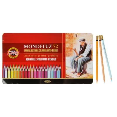 Карандаши акварельные Koh-I-Noor 3727/72 Mondeluz, 72 цвета, в металлическом пенале Koh-i-Noor