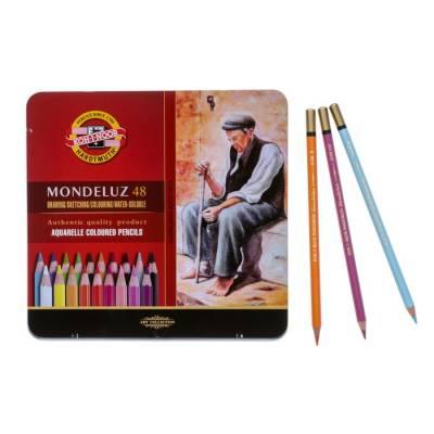 Карандаши акварельные Koh-I-Noor 3726/48 Mondeluz, 48 цветов, в металлическом пенале Koh-i-Noor