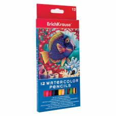 Акварельные карандаши с кисточкой, 12 цветов Erich Krause