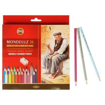 Карандаши художественные Koh-I-Noor Mondeluz 3712, акварельные, 36 цветов, в картонной упаковке Koh-i-Noor