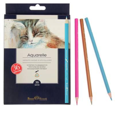 Акварельные карандаши Aquarelle, 36 цветов BrunoVisconti