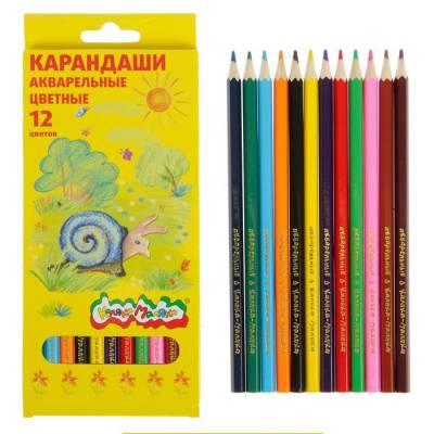 Карандаши акварельные 12 цветов