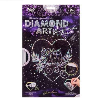 Алмазная мозаика на подрамнике Diamond Art - Совы на ветке Данко Тойс / Danko Toys