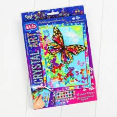 Набор креативного творчества «Самоклеящиеся кристаллы. Бабочка» серии «Crystal Art» Данко Тойс / Danko Toys