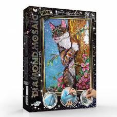 Набор креативного творчества «Diamond Mosaic. Кот на дереве» Данко Тойс / Danko Toys