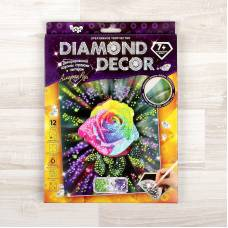 Алмазная мозаика без подрамника Diamond Decor - Роза, круглые элементы  Данко Тойс / Danko Toys