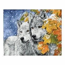 Алмазная вышивка «Кленовые листья» Гранни