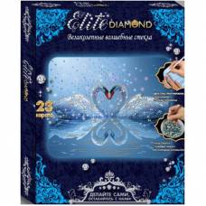 Алмазная мозаика Elite Diamond - Лебединое сердце  Лапландия