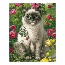 Алмазная вышивка «Кот и лето» Гранни