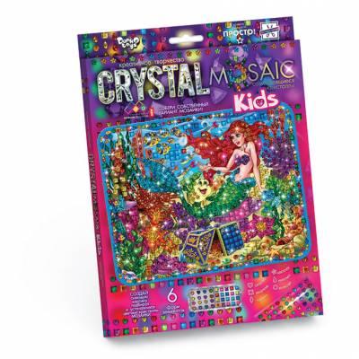 Алмазная мозаика без подрамника Crystal Mosaic Kids - Русалочка  Данко Тойс / Danko Toys