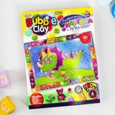 Витражная картина из шарикового пластилина серии «BUBBLE CLAY. Динозавр» Данко Тойс / Danko Toys