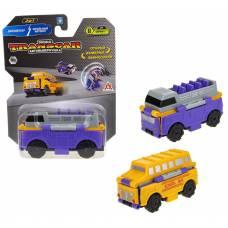 Transcar 2в1: Даблдэккер – Школьный автобус, 8 см 1TOY