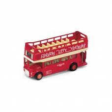 Металлический автобус London Bus, красный, открытый, 1:34-39 Welly