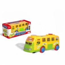 Музыкальный автобус Happy Bus (свет, звук), желтый Zhorya