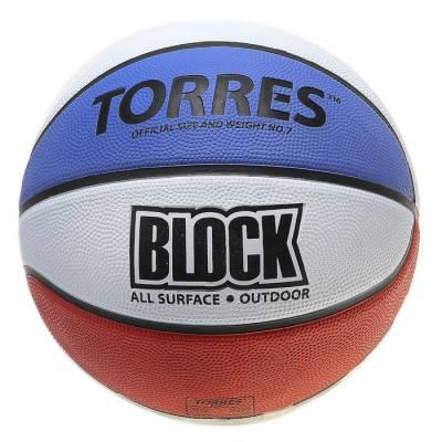 Мяч баскетбольный Torres Block, B00077, размер 7  TORRES