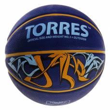 Мяч баскетбольный Torres Jam, B00043, размер 3  TORRES