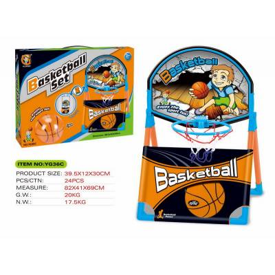 Баскетбол, набор баскетбольное кольцо и мяч 10см (установна на столе, полу или крепление за косяк двери), 38.5*40*58 см) YG Sport