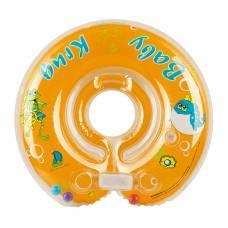 Круг для купания, с погремушками, от 0 мес., цвет оранжевый Baby Krug