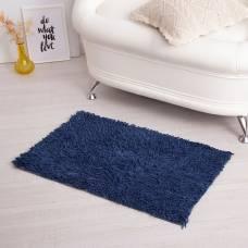 Ковер для ванны «Шегги», 50 х 80, цвет цвет синий. Sima-Land