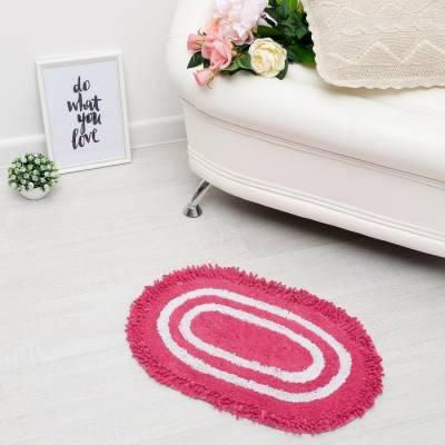 Ковер овальный «АРПИТ», 40х60 ± 3 см, цвет розовый. Sima-Land