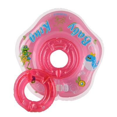 Круг для купания 3D, два сменных кольца, от 3 мес., цвет розовый Baby Krug