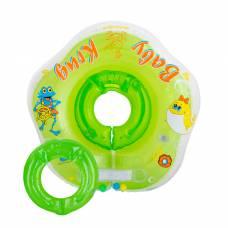 Круг для купания 3D, два сменных кольца, от 3 мес., цвет зелёный Baby Krug