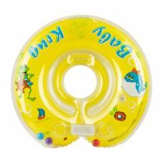 Круг на шею для купания, с погремушками, от 0 мес., цвет жёлтый Baby Krug