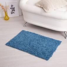 Ковер для ванны «Шегги», 50 х 80, цвет голубой. Sima-Land