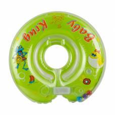 Круг на шею для купания, с погремушками, от 0 мес., цвет зелёный Baby Krug