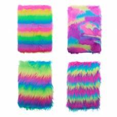 Блокнот А5 (15.5 х 21.5 см), 80 листов FUR «Мохнатый», линованный бумажный блок, плотность бумаги 70 г/м², 4 дизайна ОПП-упаковка MAZARi