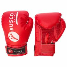 Перчатки боксерские RUSCO SPORT детские кож.зам. 4 Oz цвет красный RuscoSport