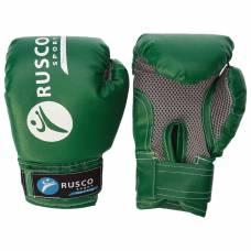 Перчатки боксерские RUSCO SPORT детские кож.зам. 4 Oz зеленые RuscoSport