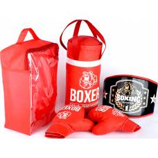 Боксерский набор (груша, пояс,  перчатки) Лидер
