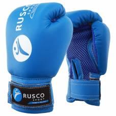 Перчатки боксерские RUSCO SPORT детские кож.зам. 6 Oz синие RuscoSport
