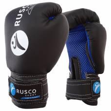 Перчатки боксерские RUSCO SPORT детские кож.зам. 4 Oz черные RuscoSport